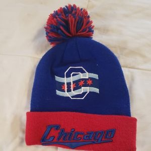 Chicago stocking cap with pom